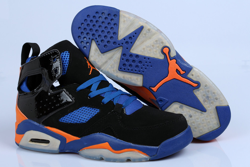 Handsome Air Jordan Fltclb '911 Black Blue Orange Shoes