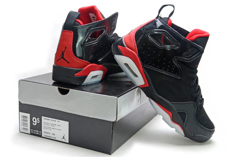 Handsome Air Jordan Fltclb 911 Black Red Shoes