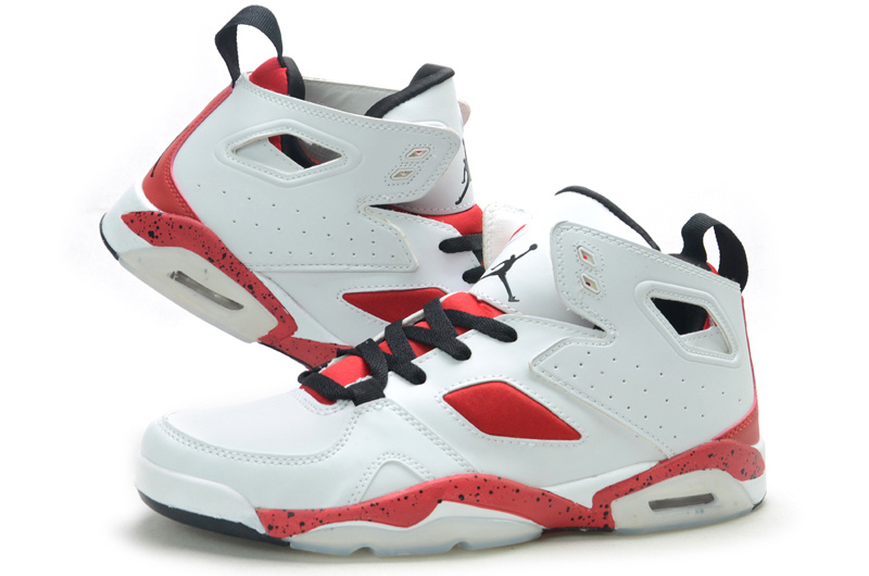 Handsome Air Jordan Fltclb 911 White Red Shoes