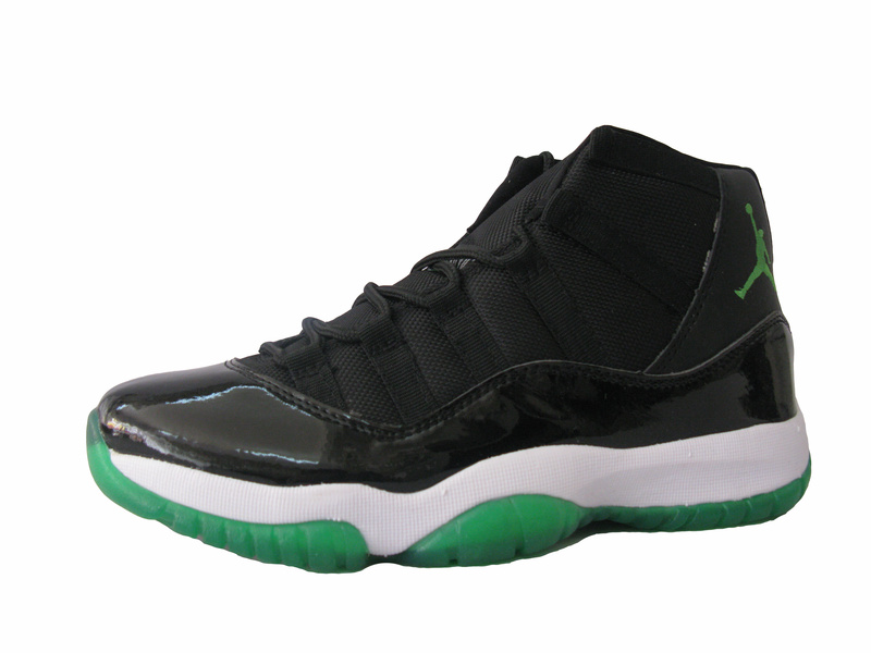 Air Jordan Retro XI Black White Green