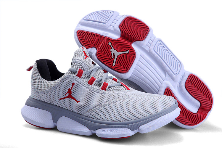 2012 Jordan Running Shoes Grey White