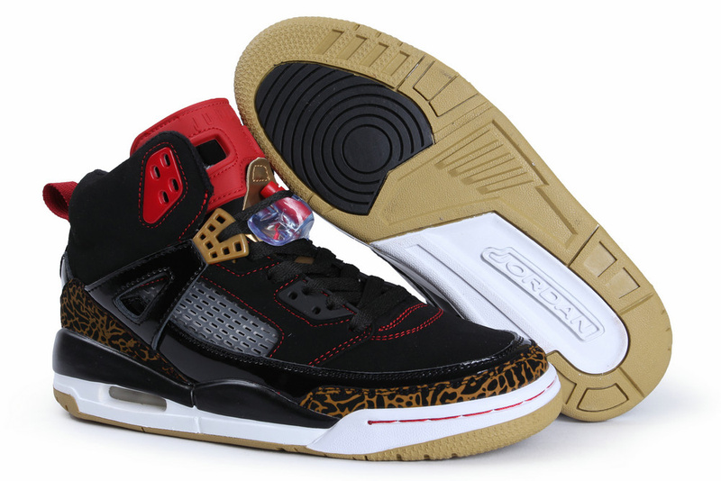 Classic Jordan Spizike Black White Gold Shoes