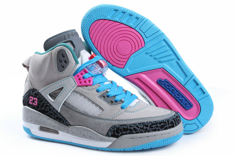 2013 jordans for girls blue and grey