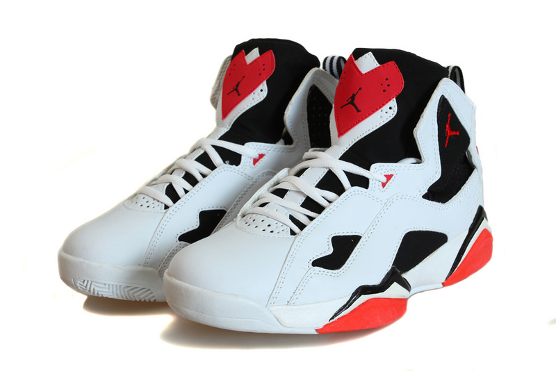 Cheap Real 2015 Air Jordan True Flight White Black Red