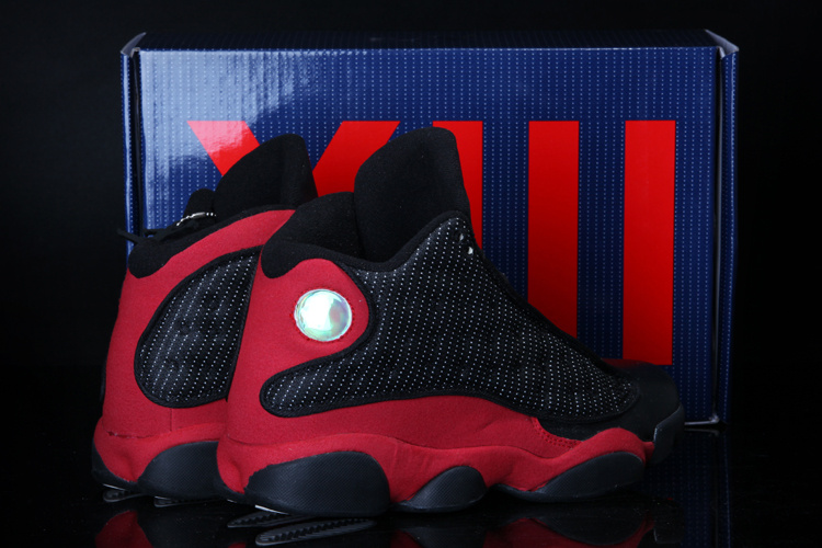 2013 Cool Summer Jordan 13 Retro Black Red Shoes