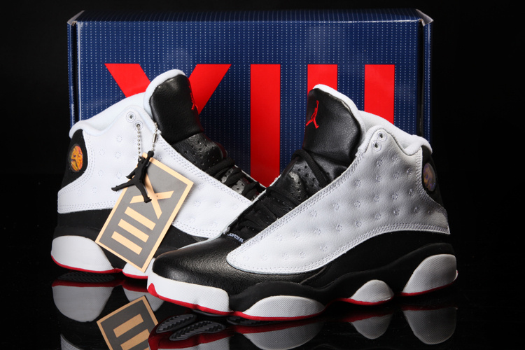 2013 Cool Summer Jordan 13 Retro White Black Red Shoes