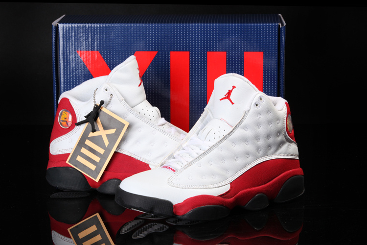 2013 Cool Summer Jordan 13 Retro White Red Shoes