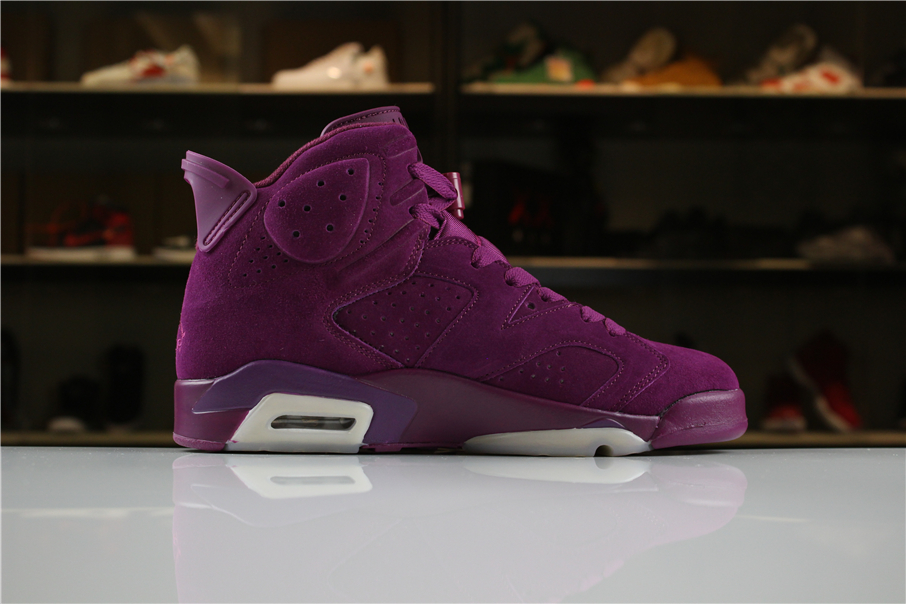 Cheap Custom Air Jordan 6 DIY Personal Tailor Bordeaux Sail