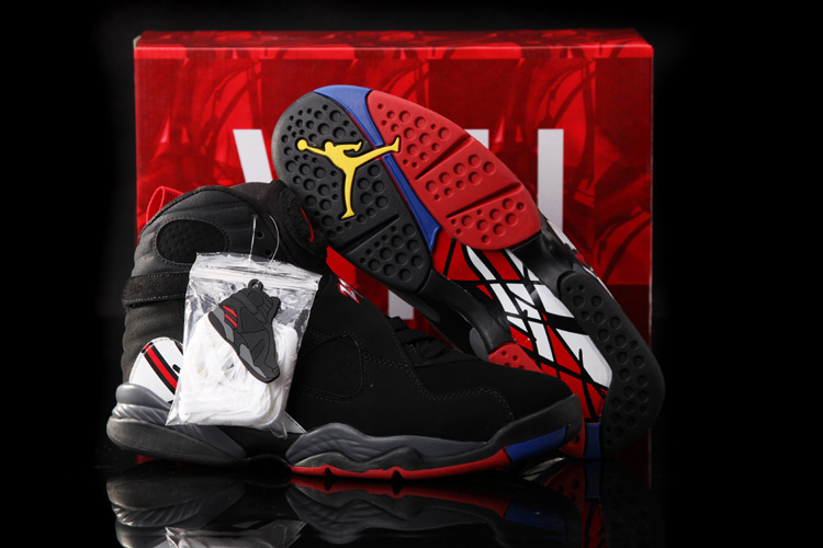 Hardback Jordan 8 Black White Red Shoes