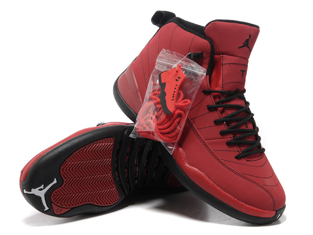 Authentic Air Jordan 12 Red Black with Hardback Package