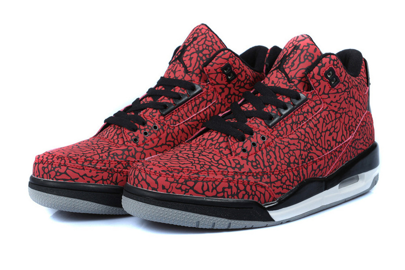 Jordan 3 Retro Red Black Shoes