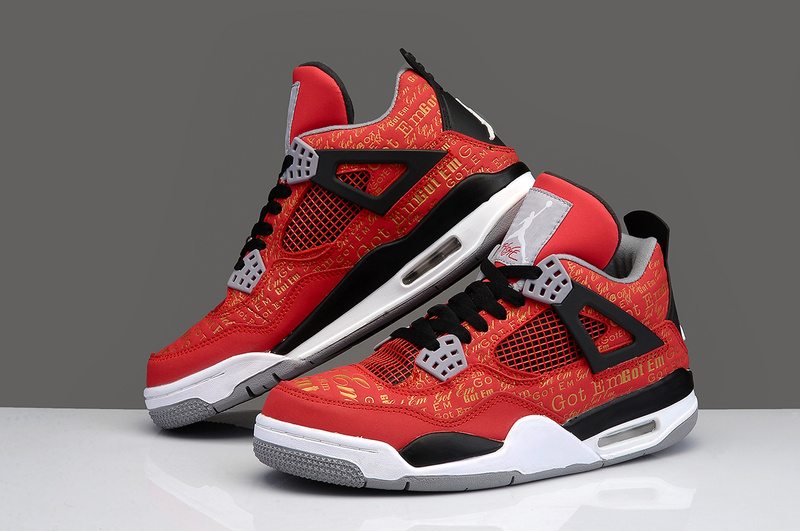 Jordan 4 Limited Edition Super Bulls Red Black White Shoes