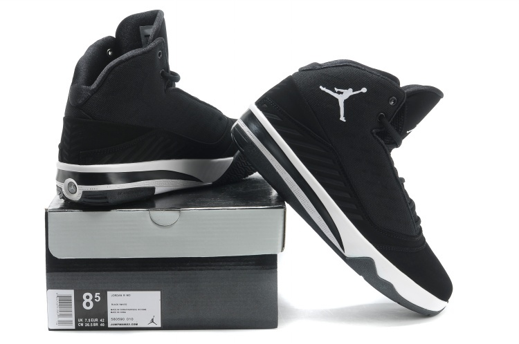 2013 Jordan B`MO Black White Shoes