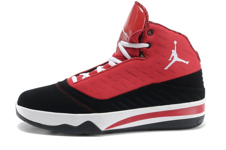2013 Jordan B`MO Red Black White Shoes