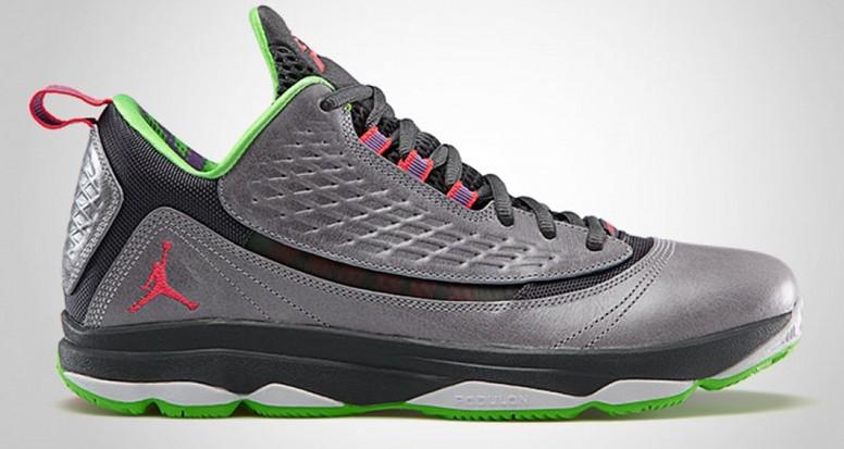 newest 2d077 66bde Cheap Authentic Jordan CP3 2 Grey White Green Shoes