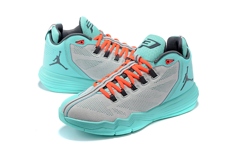 Jordan CP3 IX AE Pure Platinum Dark Grey Hyper Turquoise Shoes