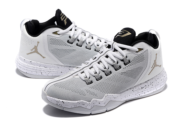 Jordan CP3 IX AE White Metallic Coppercoin Black Pure Platinum Shoes