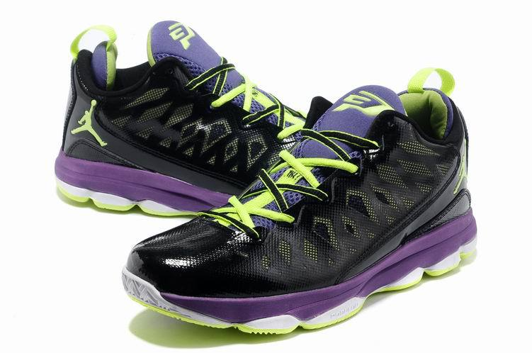 2013 Jordan CP3 VI Black Purple White Basketball Shoes