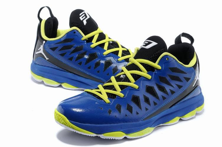 2013 Jordan CP3 VI Blue Yellow Basketball Shoes