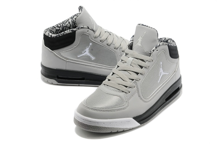 grey and black jordans shoes
