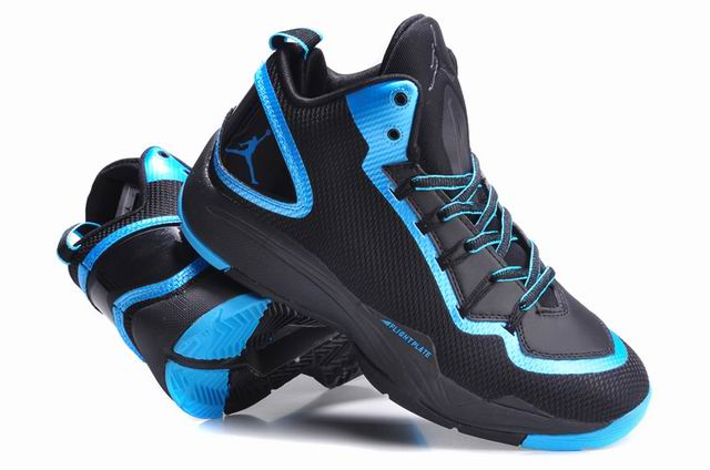 Jordan Super Fly 2 PO Black Dark Powder Blue Shoes