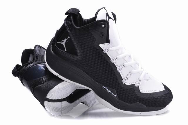 Jordan Super Fly 2 PO Black White White Shoes