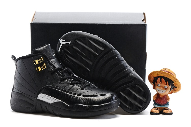 Cheap Air Jordans 12 All Black Shoes For Kids