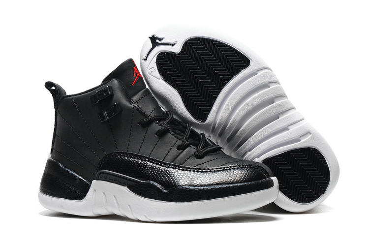 Cheap Air Jordans 12 Black Shoes For Kids