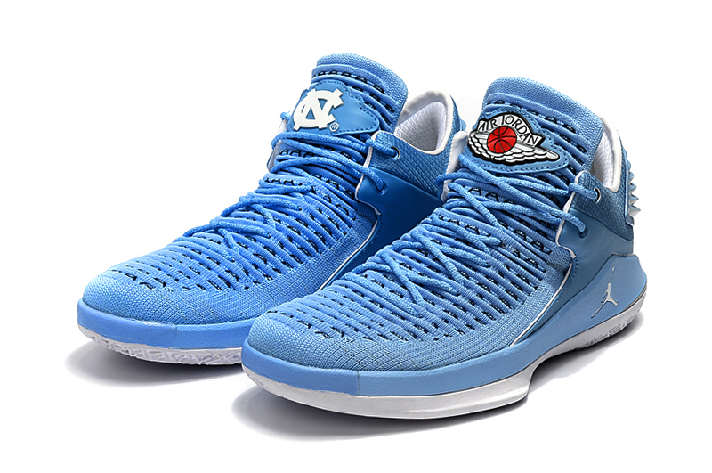 Jordans XXXII Low The North Carolina Blue Shoes