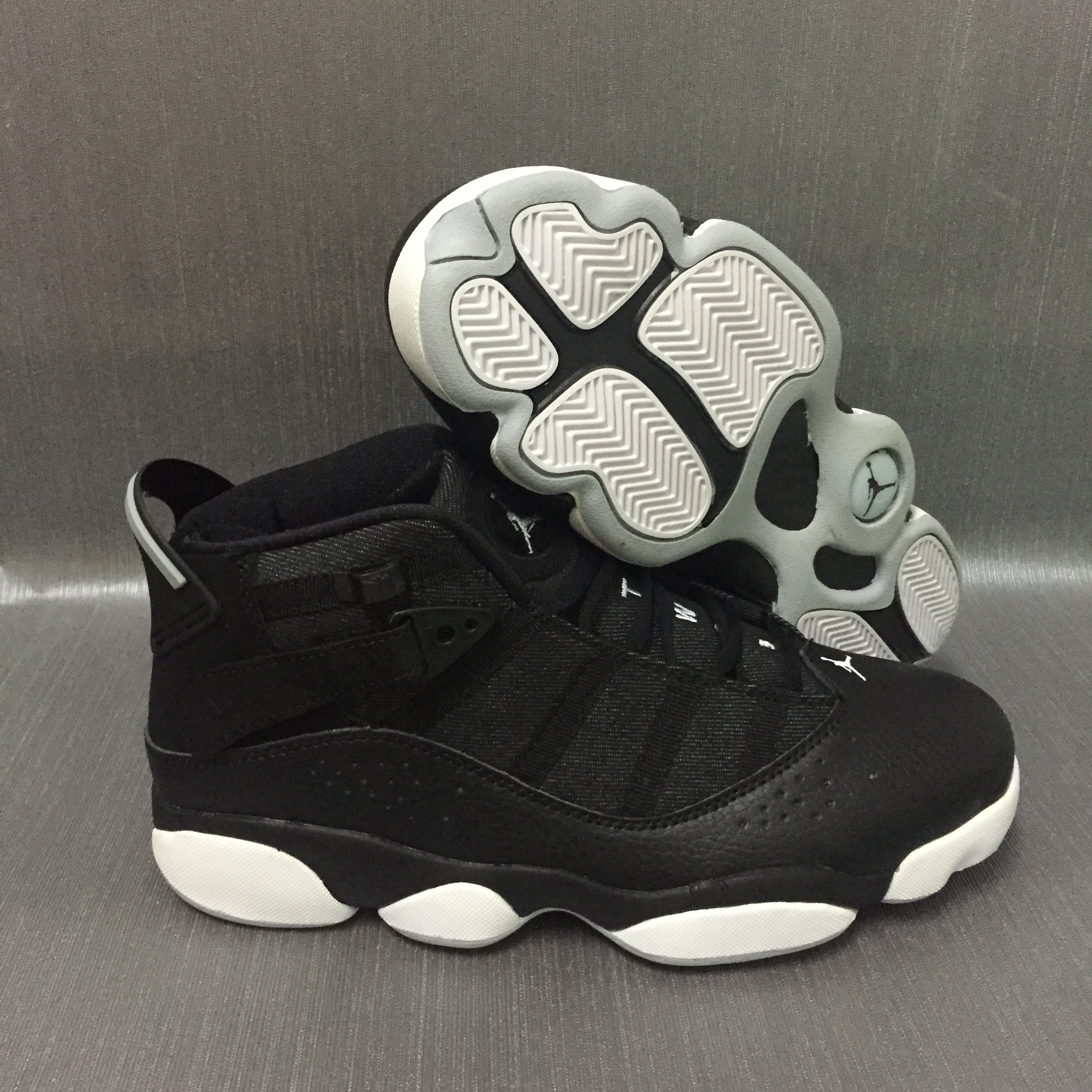 Cheap Air Jordans 6 Champion Black Grey White SHoes
