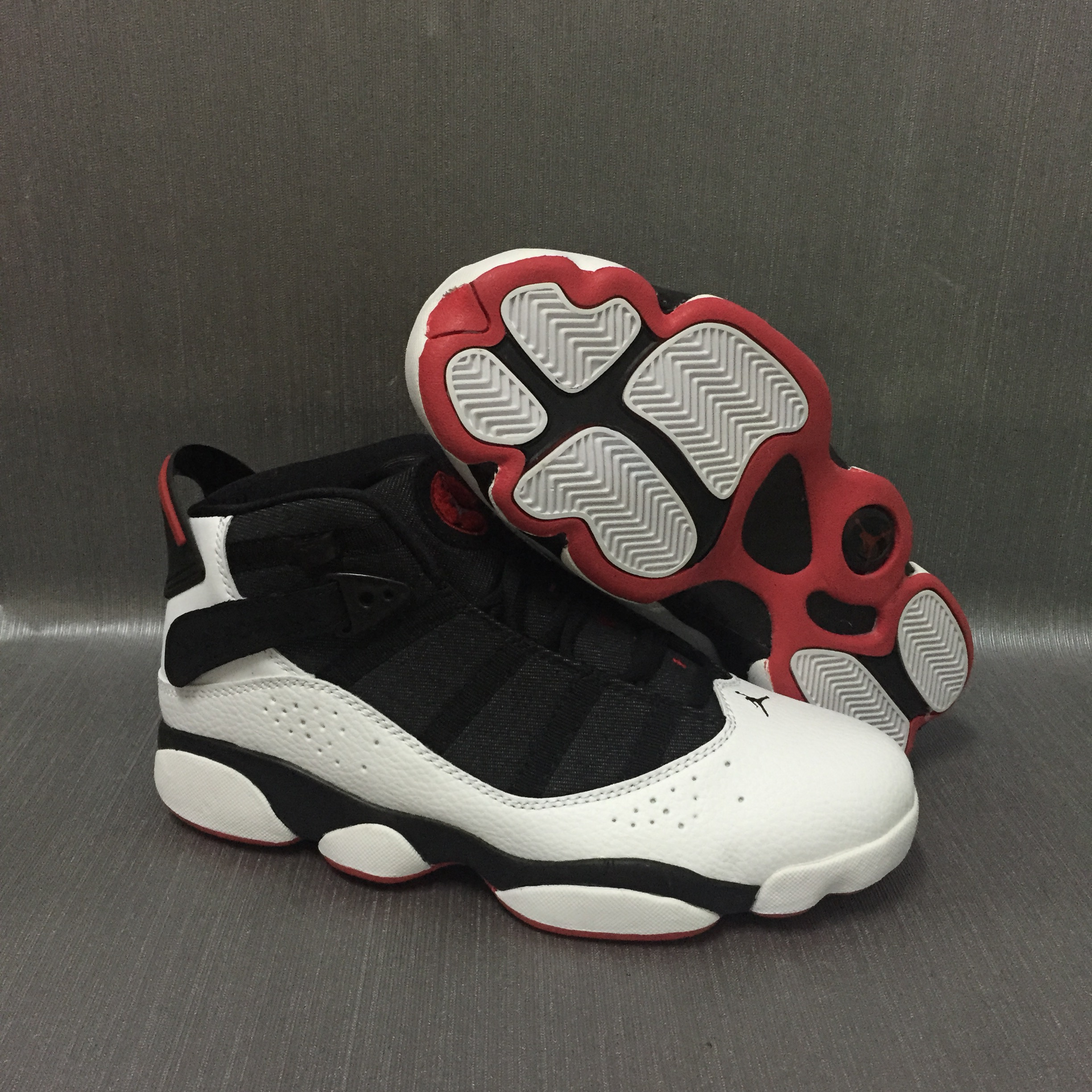 Cheap Air Jordans 6 Champion Black White Red SHoes