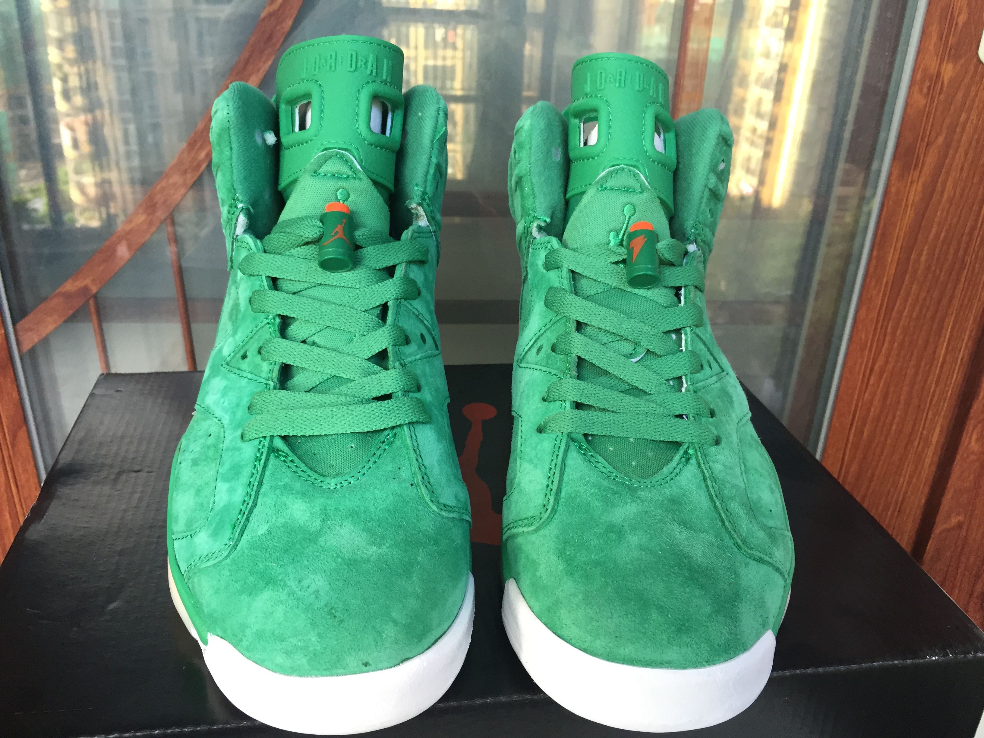 Cheap Air Jordans 6 Gatorade Green Shoes