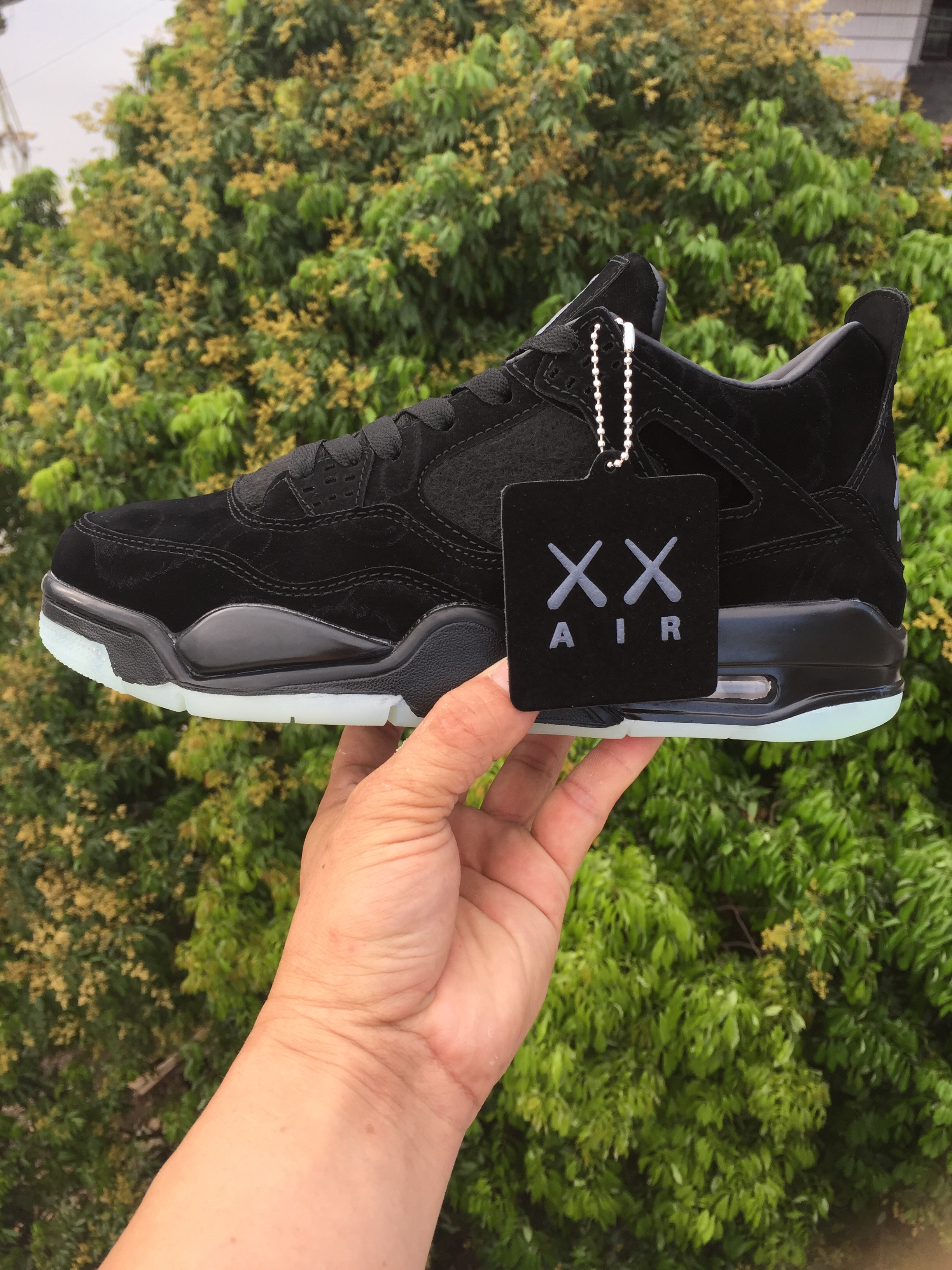 CHeap KAWS X Air Jordans 4 Black Shoes