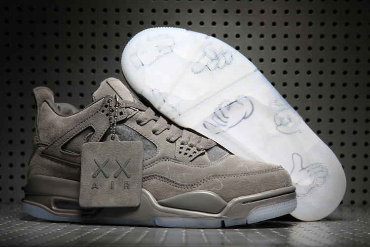 Cheap KAWS X Air Jordans 4 Grey Shoes