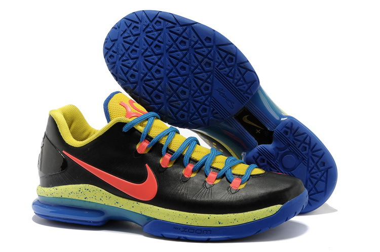 Nike Kevin Durant 5 Low Black Blue Yellow Shoes