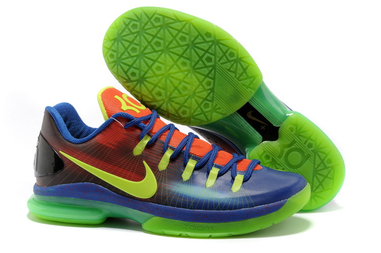 Nike Kevin Durant 5 Low Blue Green Red Shoes