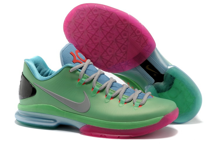 Nike Kevin Durant 5 Low Light Green Pink Grey Shoes
