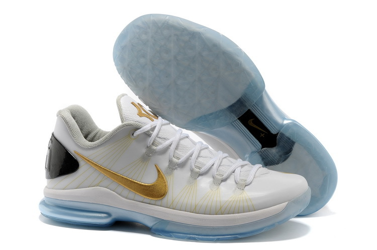 Nike Kevin Durant 5 Low White Gold Shoes
