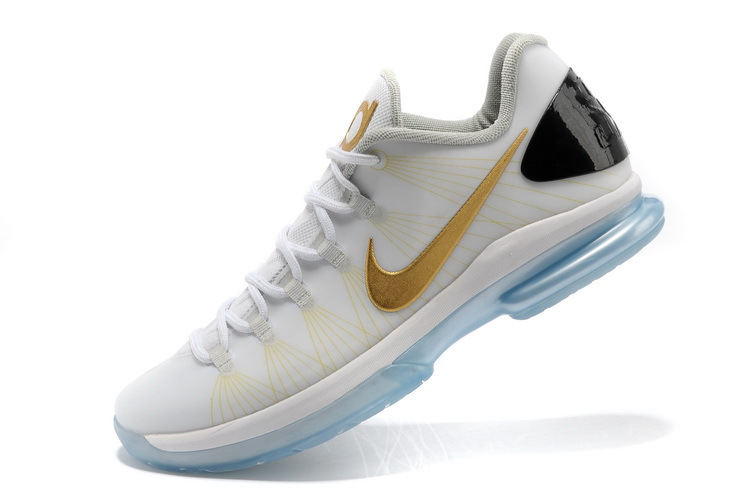 nike kevin durant 5 low white gold shoes 80 00