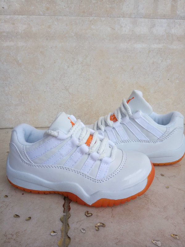 Kids Air Jordan 11 Retro Low Citrus White White Citrus Shoes