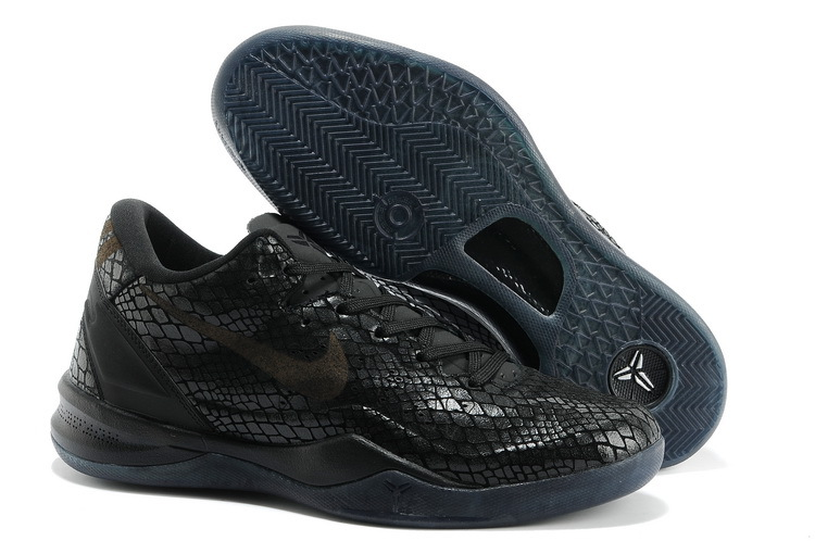 Nike Kobe Bryant 8 The Year Of Snake Edition All Black Shoes
