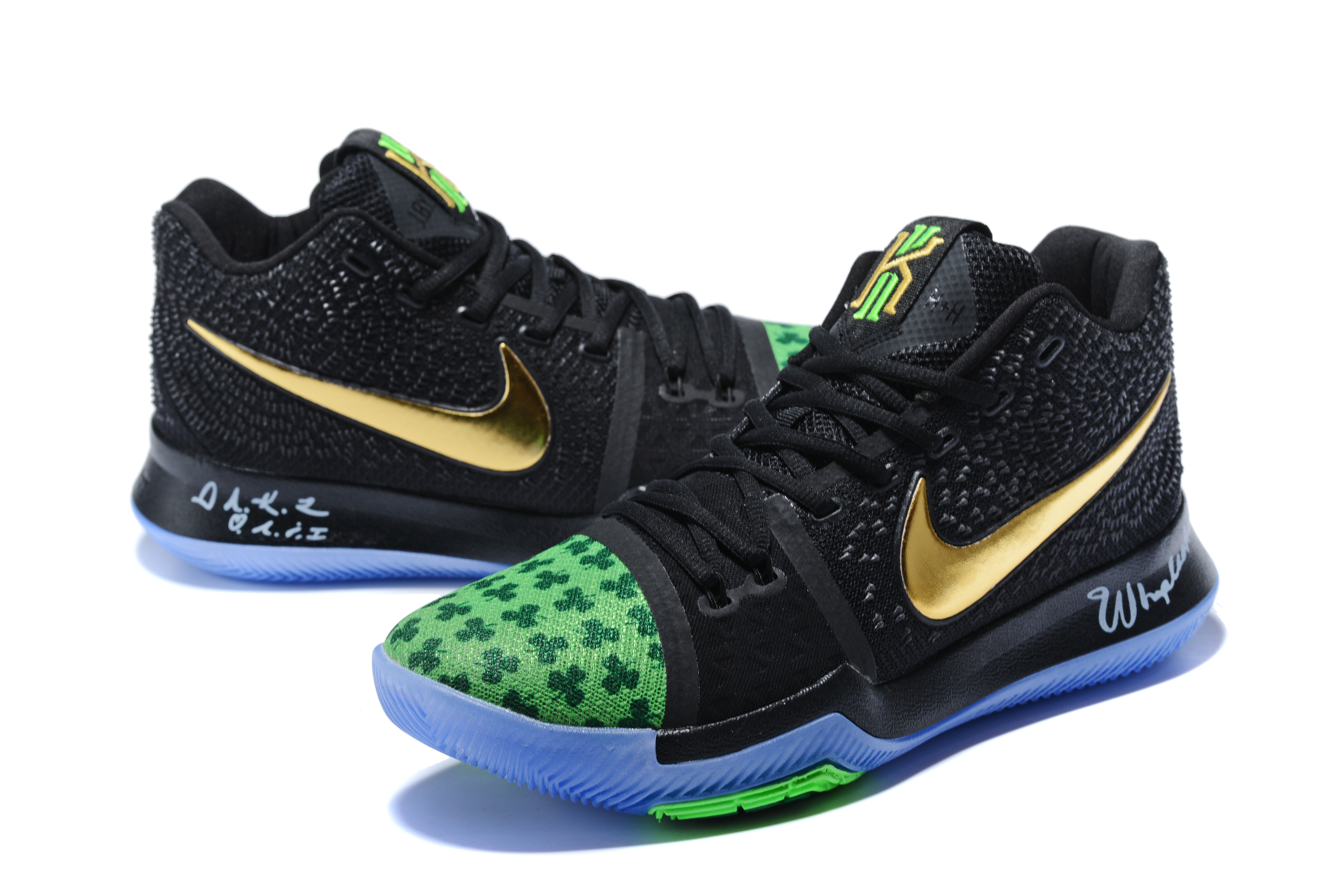Nike Kyire Irving 3 Clover Theme Shoes