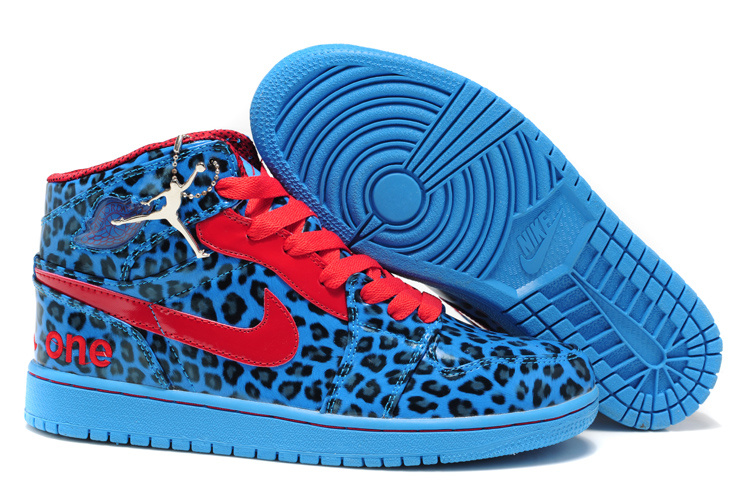 Cheap Jordan 1 Cheetah White Blue Red