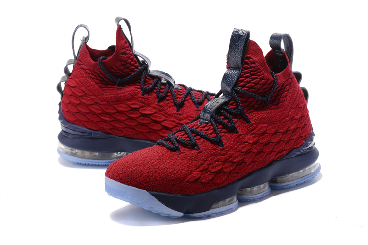 Nike Lebron James 15 Wine Red Blue Shoes