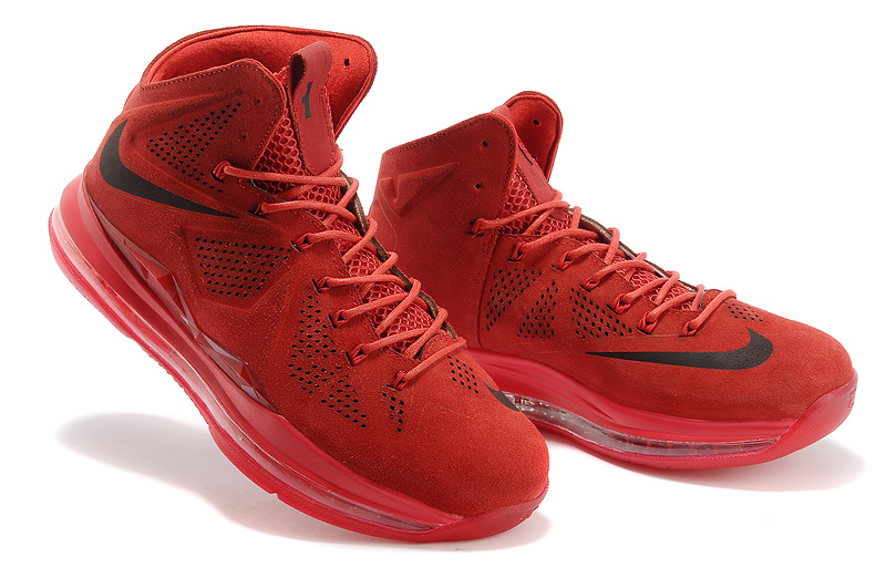 all red lebrons