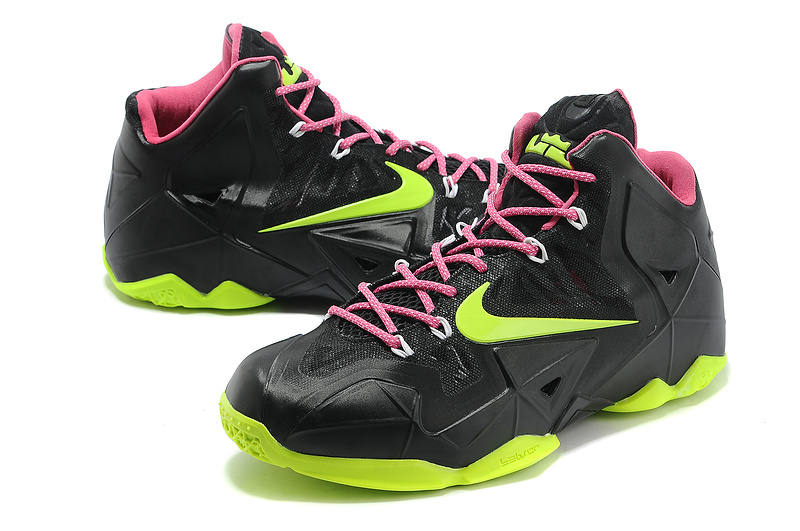 Cheap New Nike Lebron James 11 Black Yellow Red Shoes ...