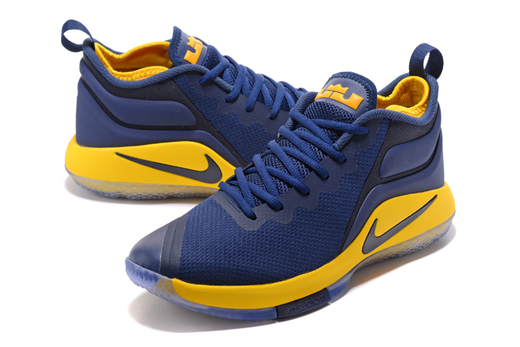 Nike Lebron James Wintness 2 Dark Blue Yellow Shoes
