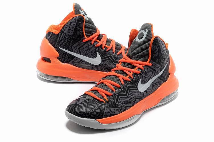 Limited Nike Kevin Durant Black Orange Shoes