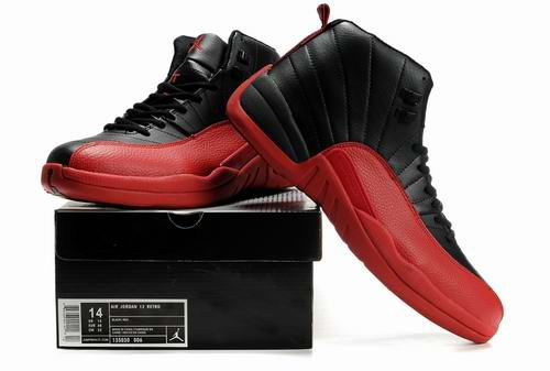 Authentic New Air Jordan Retro XII Black Red