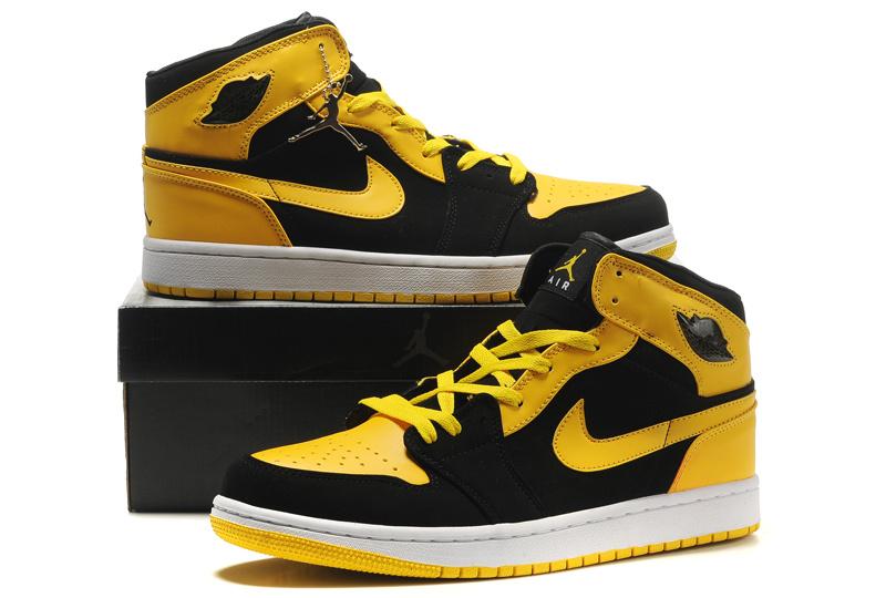 air jordan 1 yellow black sale